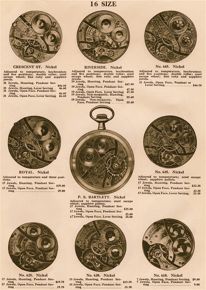 antique pocket watch serial number search