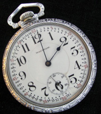 Waltham open face 16 size Montgomery dial pocket watch