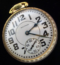 Waltham open face pocket watch 17 jewel