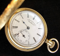 Waltham pocket watch 1880s era, roman numeral dial