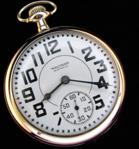 Waltham railroad pocket watch 1940s  box car dial