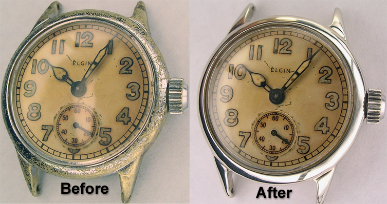 Before/After Antique Watch Repair